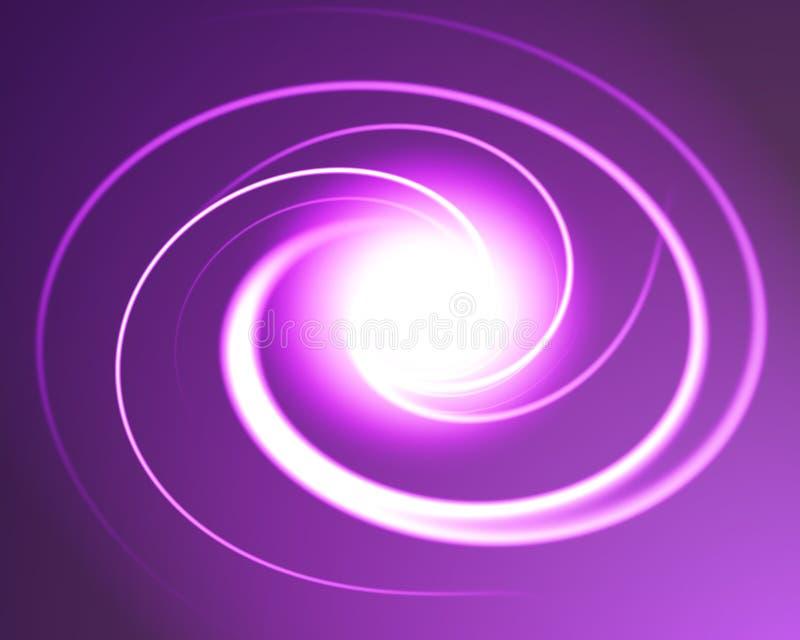 przestrzeni rozjarzona spirala ilustracja wektor