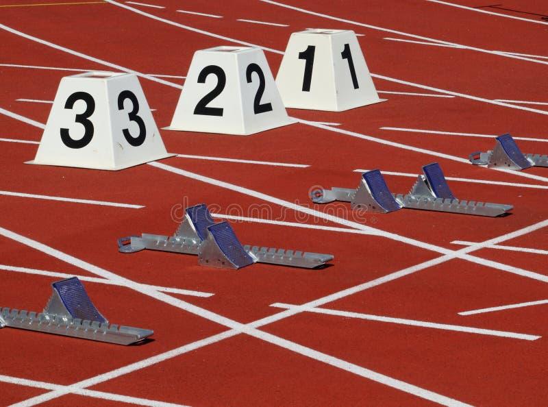 Przeszkody biega? w stadionie zdjęcia royalty free