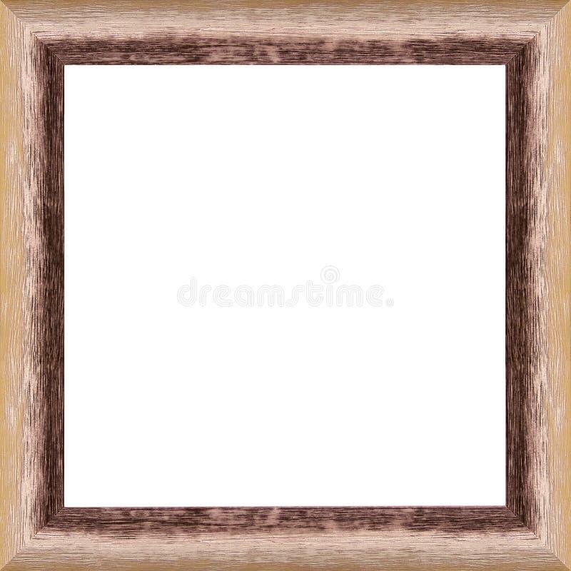 Przetarta drewniana rama zdjęcia stock
