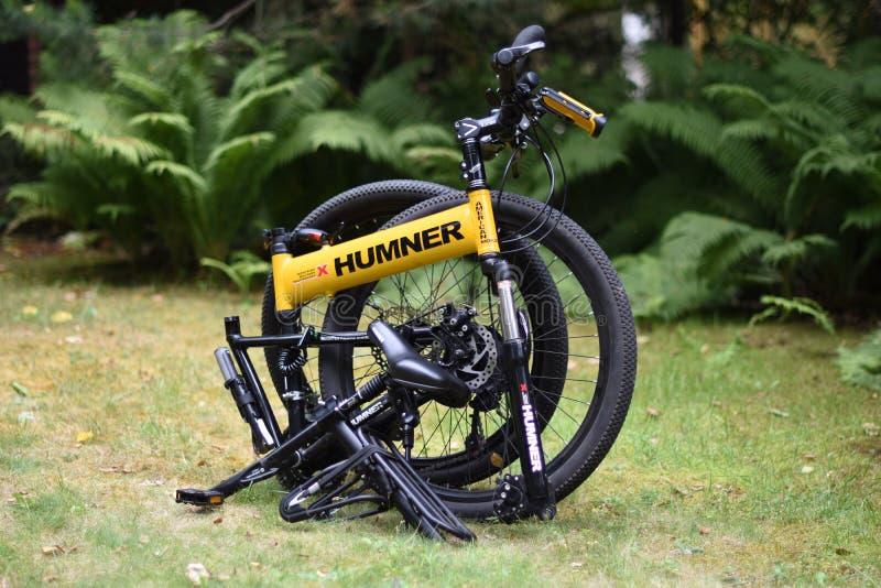 Przetrwanie rower górski, falcowanie, humner obrazy stock