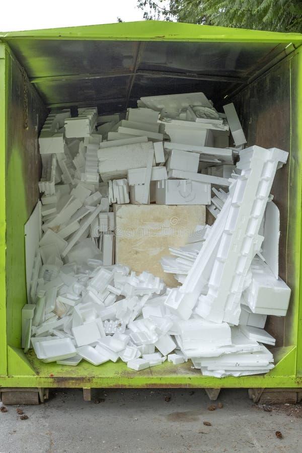 Przetwarzać styrofoam fotografia stock