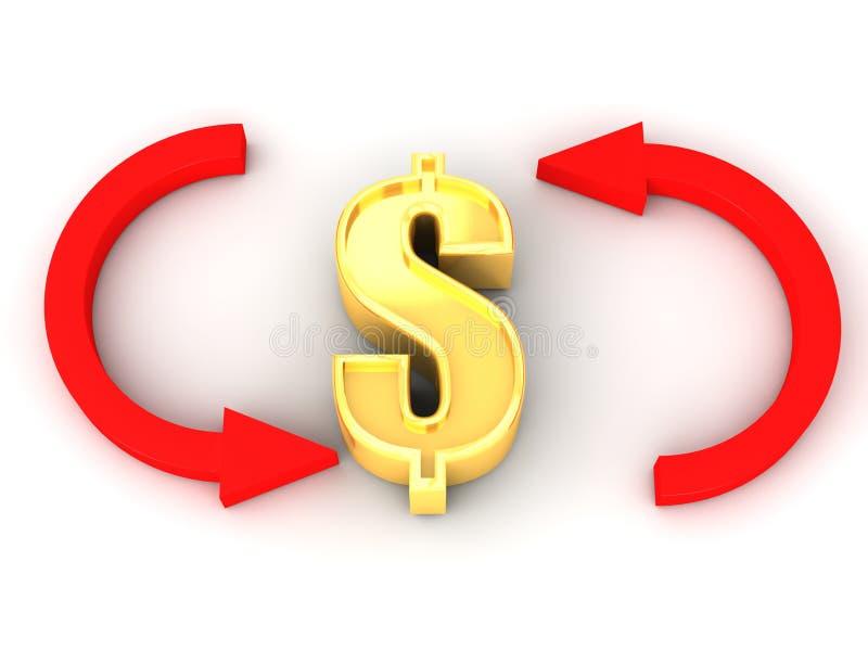 Przetwarza Dolara ilustracja wektor
