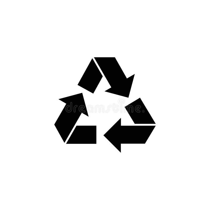 Przetwarza, ekologia Przetwarza Płaską Wektorową ikonę ilustracja wektor