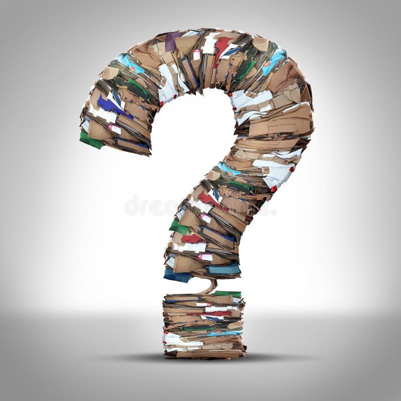 Przetwarza kartonu papieru pytanie ilustracji