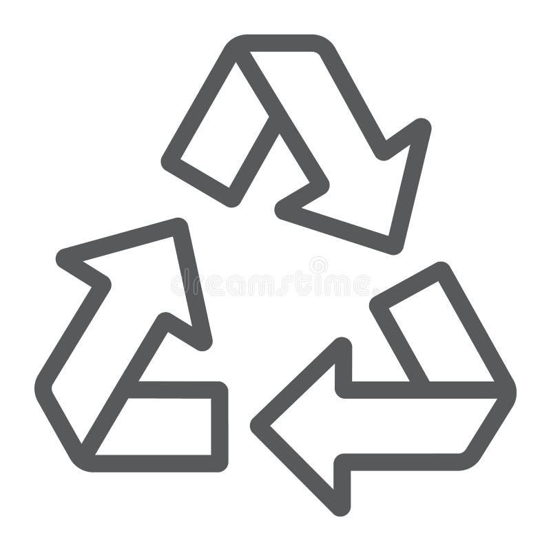 Przetwarza kreskową ikonę, ekologię i ochronę, ilustracji