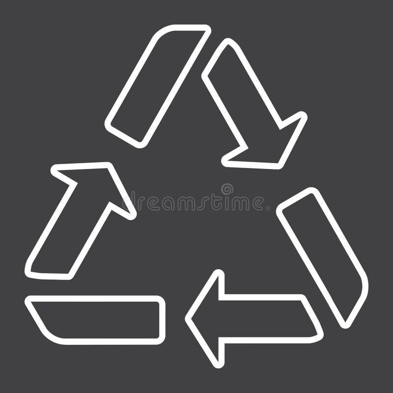 Przetwarza symbol kreskową ikonę, eco i dostawę, royalty ilustracja