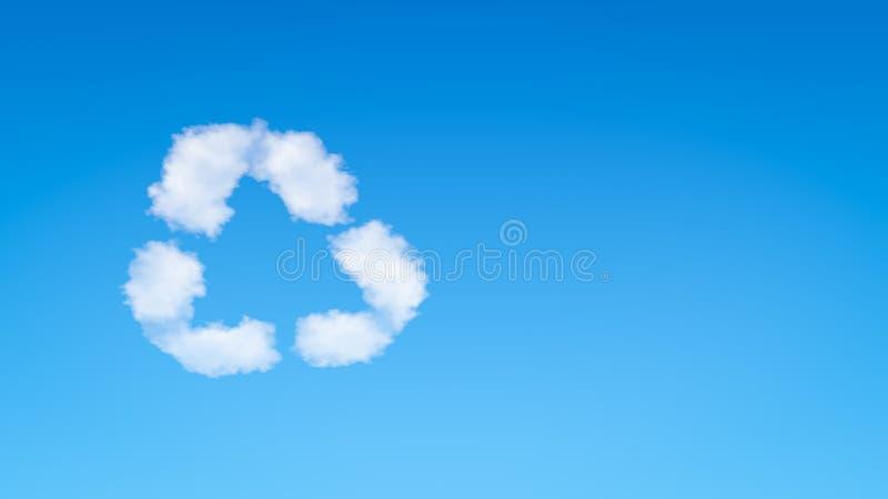 Przetwarza symbolu kształta chmurę royalty ilustracja