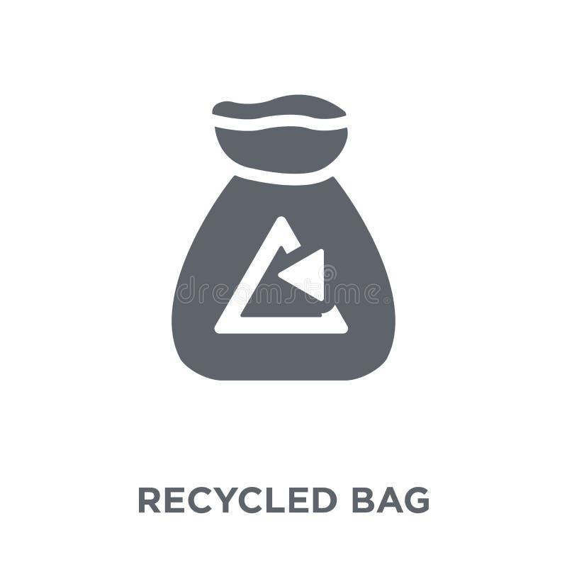 Przetwarzająca torby ikona od ekologii kolekcji royalty ilustracja