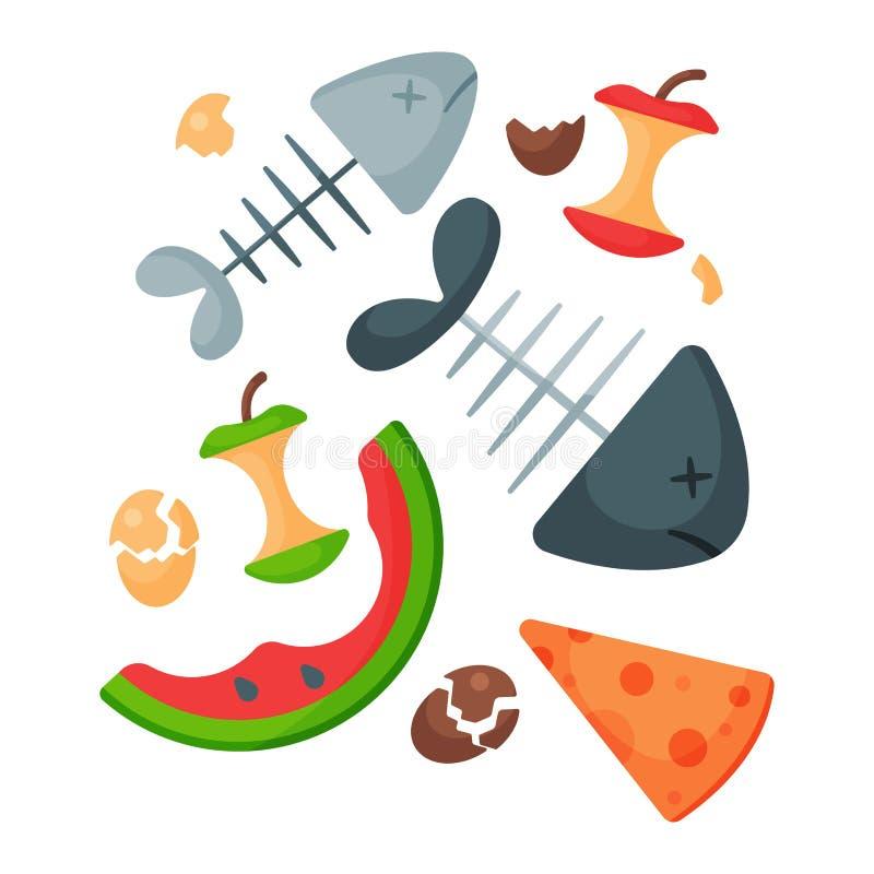 Przetwarzający śmieciarskiego żywność organiczna grata opon zarządzania przemysłu utylizowywa jałową puszka wektoru ilustrację royalty ilustracja