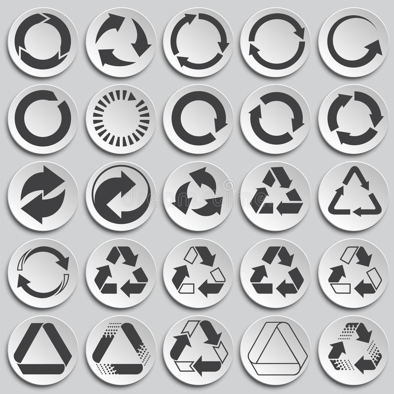 Przetwarzający ikony ustawiać na talerza tle dla grafiki i sieci projekta Prosty wektoru znak Internetowy poj?cie symbol dla royalty ilustracja