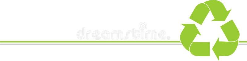 Przetwarzający strzałę, Przetwarzający tło z logo, Przetwarza tło ilustracja wektor