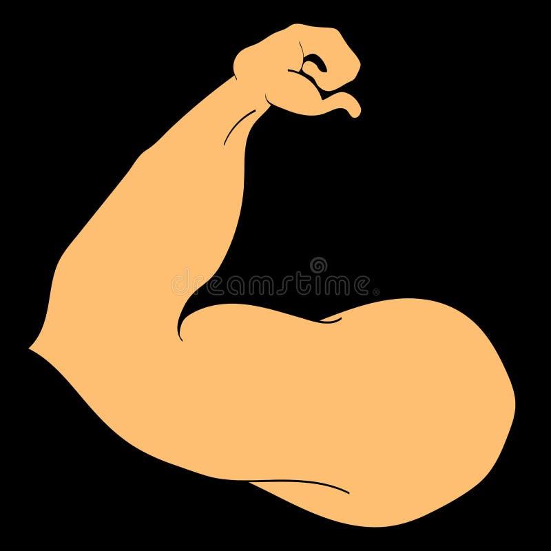 Przewód ręki bodybuilder z dużymi mięśniami zdjęcie stock