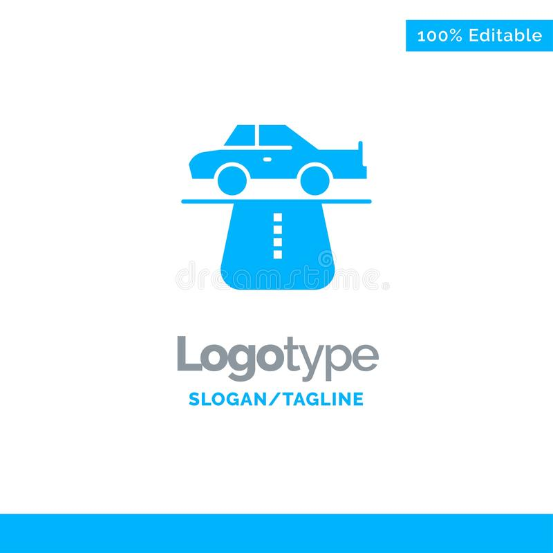 Przewaga, władza, samochód, dywan, Pociesza Błękitnego Stałego logo szablon Miejsce dla Tagline royalty ilustracja