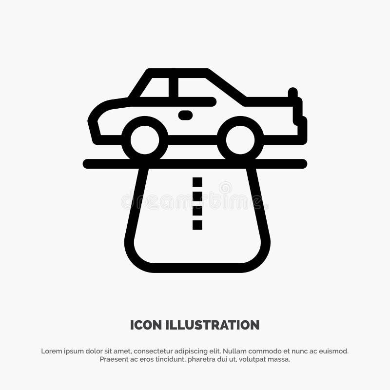 Przewaga, władza, samochód, dywan, wygody ikony Kreskowy wektor ilustracja wektor