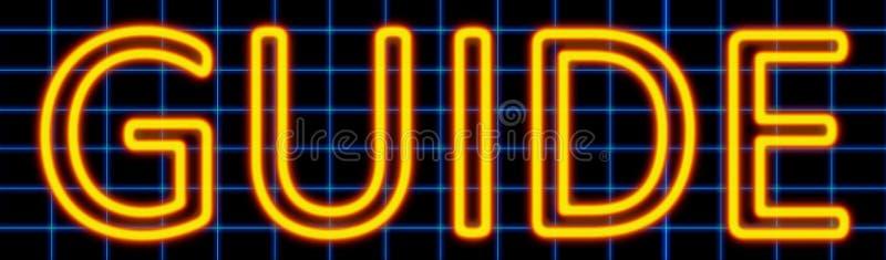 Przewdonika neonowy znak ilustracja wektor