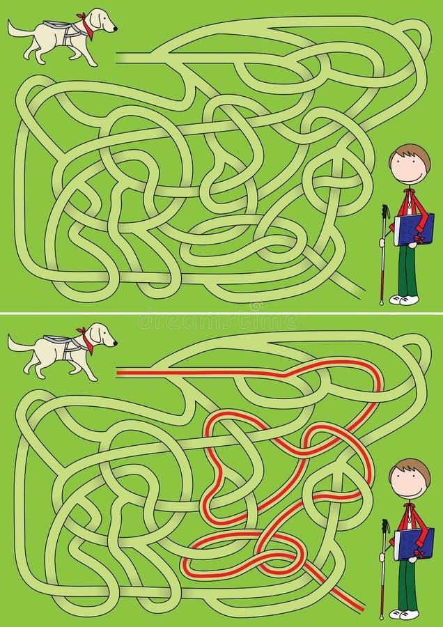 Przewdonika psa labirynt ilustracja wektor