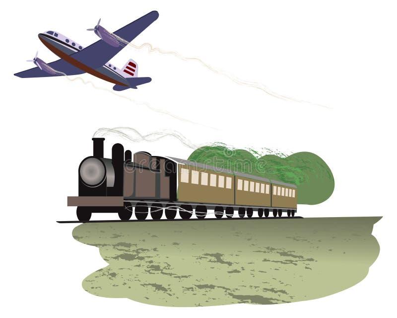 przewieziona podróż royalty ilustracja