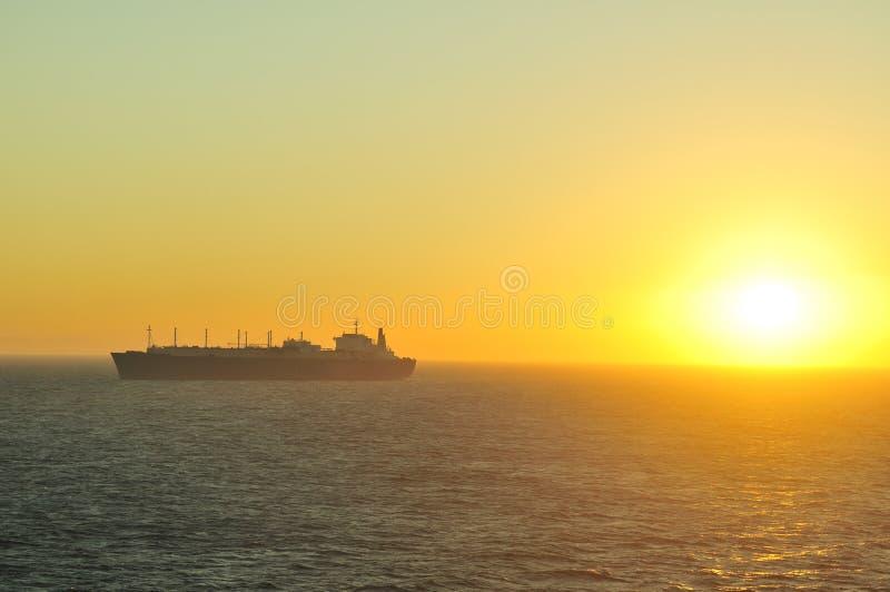 przewoźnika gazu lng naturalny statek obrazy stock