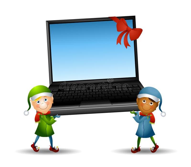 przewożenia elfów laptop ilustracji