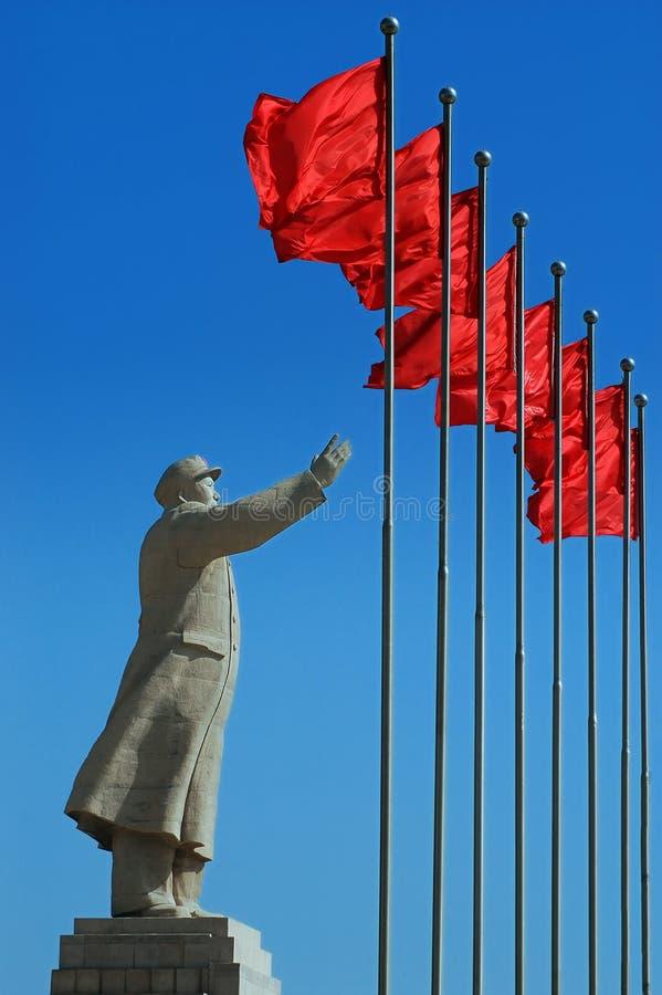 przewodniczącego Mao s statua fotografia royalty free