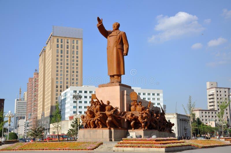 Przewodniczącego Mao Statua, Shenyang, Chiny zdjęcia stock