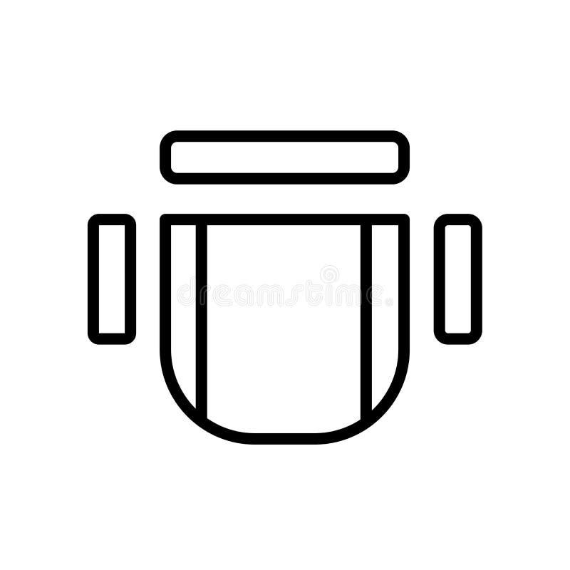 przewodniczy odgórnego widoku ikonę odizolowywającą na białym tle ilustracja wektor