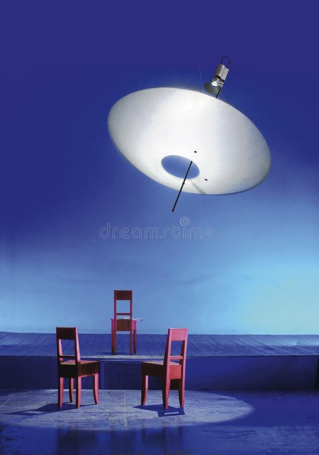 przewodniczy ogromną lampową czerwień trzy obrazy stock