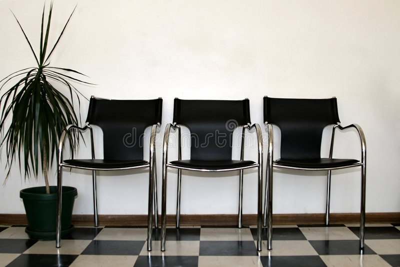 przewodniczy pokój czeka zdjęcia stock