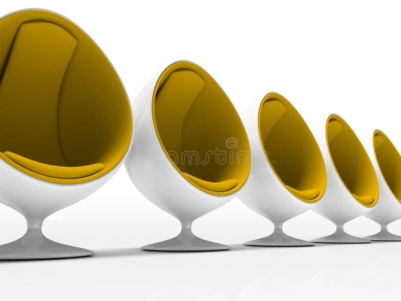 przewodniczy tła pięć wolny biały kolor żółty ilustracja wektor