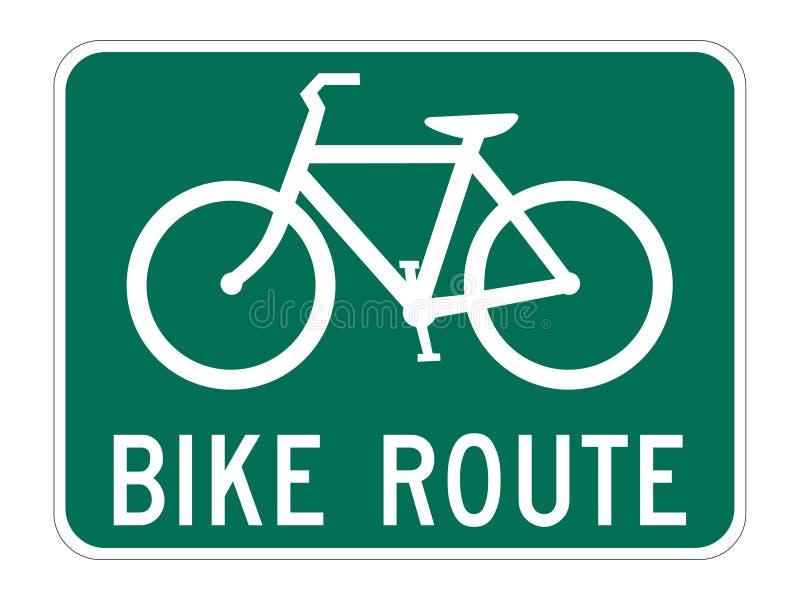 przewodnik rowerów trasy royalty ilustracja