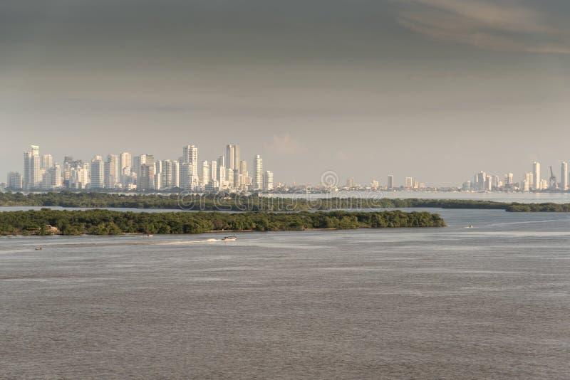 Przewodzić w Cartagena przy świtem obraz stock