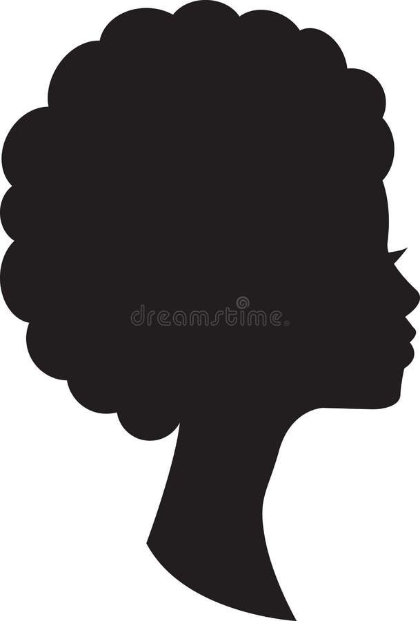 Przewodzi w profilu afrykańska kobieta na białym tle zdjęcie royalty free