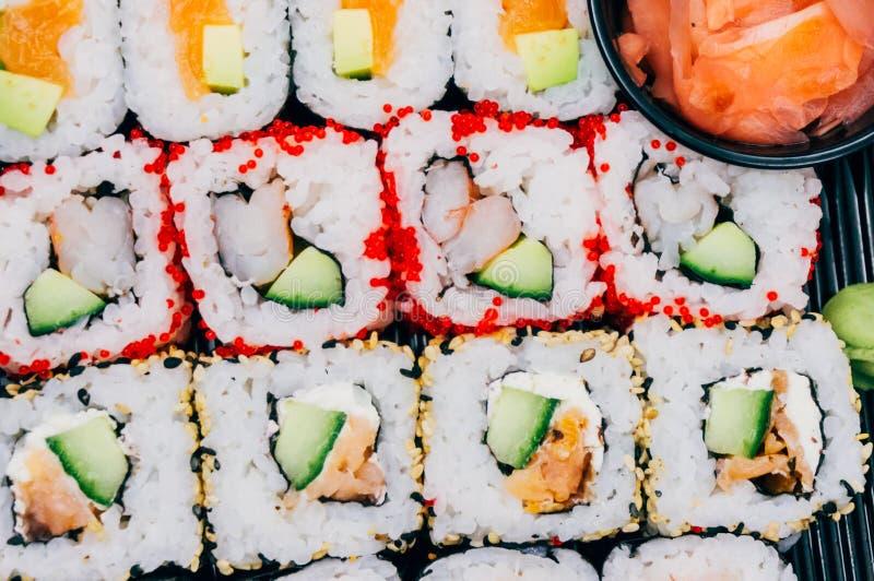 przewróć sushi zdjęcie royalty free