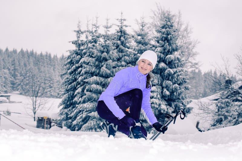 Przez cały kraj narciarstwo zdjęcie royalty free