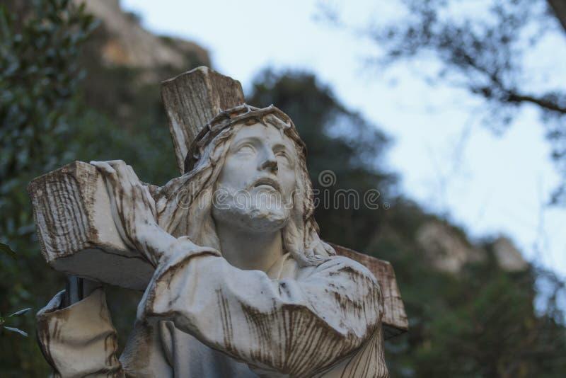 Przez Crucis Jezus. Pasja Chrystus zdjęcia stock