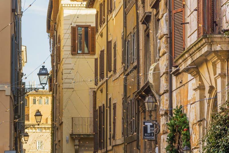 Przez dei Coronari w Rzym zdjęcia royalty free