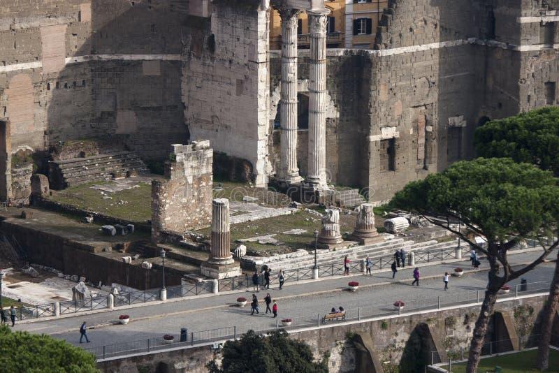 Przez dei Fori Imperiali forum, widok z lotu ptaka (Przez dellImpero) obraz stock