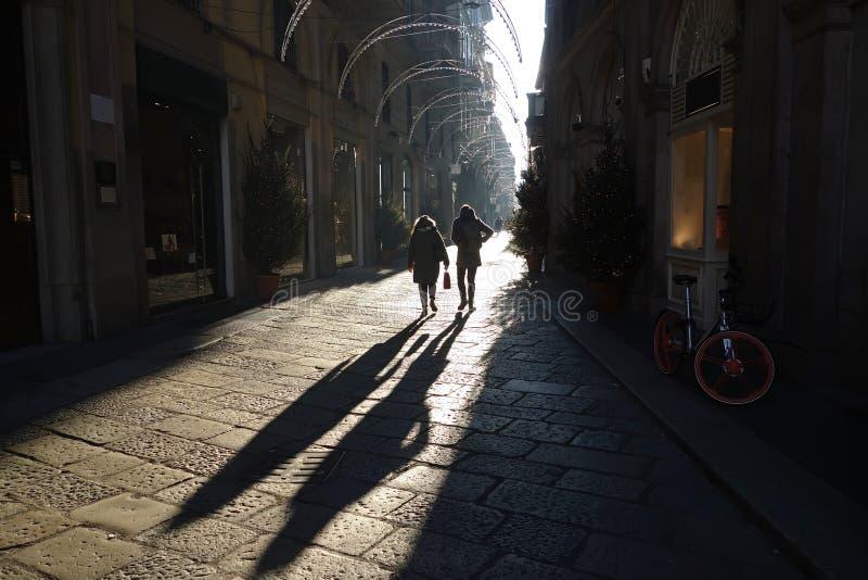 Przez della Spiga, Mediolan, Włochy fotografia royalty free
