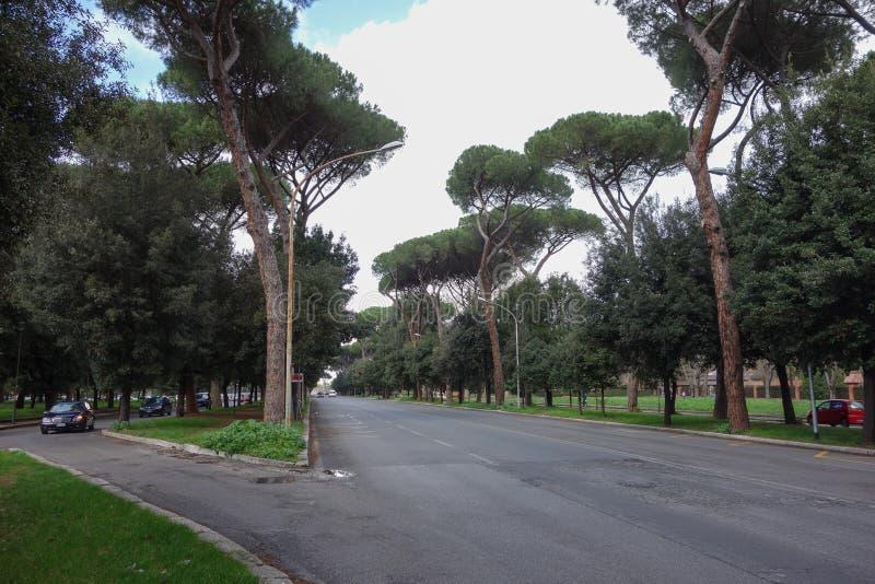 Przez Fori Imperiali w Rzym obrazy royalty free