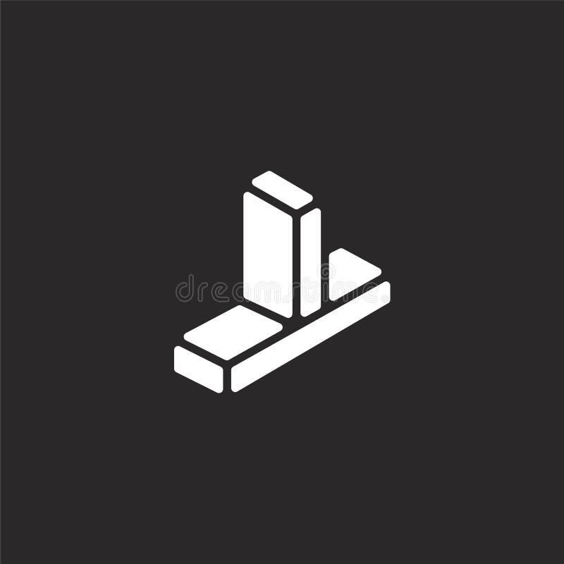 przez ikony Wypełniający przez ikony dla strony internetowej wiszącej ozdoby i projekta, app rozwój przez ikony od wypełniającej  royalty ilustracja