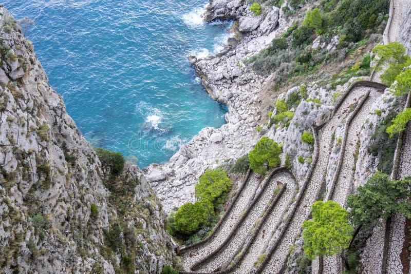 Przez Krupp w Capri Włochy 1 fotografia royalty free