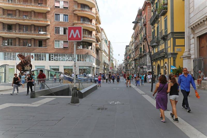 Przez Toledo Napoli fotografia stock