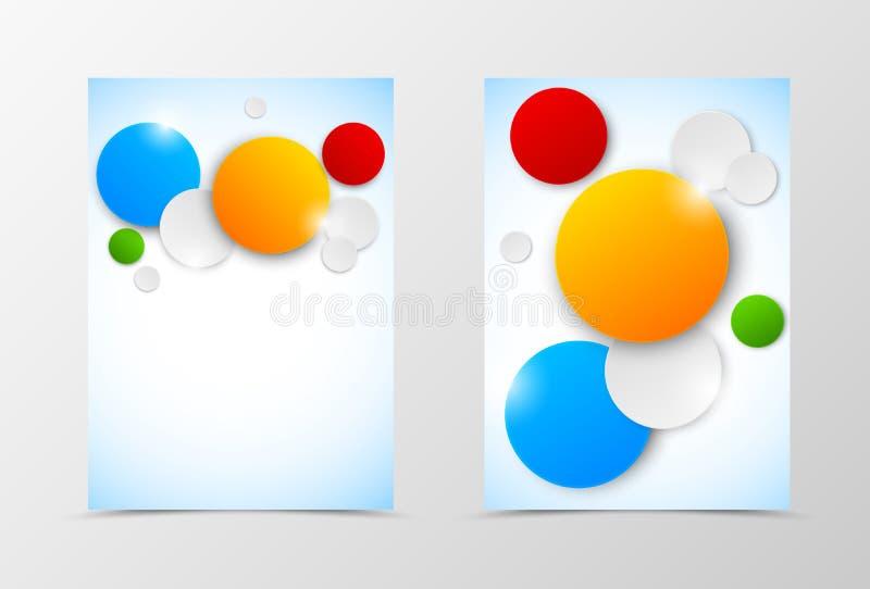 Przodu i plecy ulotki szablonu dynamiczny projekt ilustracja wektor