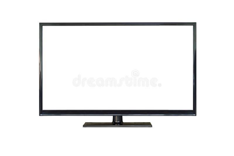 Przodu strzał osocza tv ekran odizolowywający na bielu zdjęcie royalty free