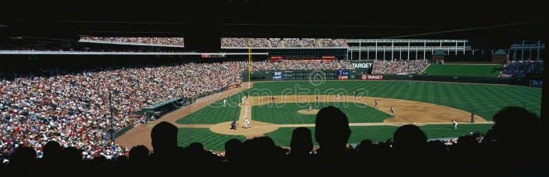 Przy Bal pierwsza liga baseballa gra fotografia stock