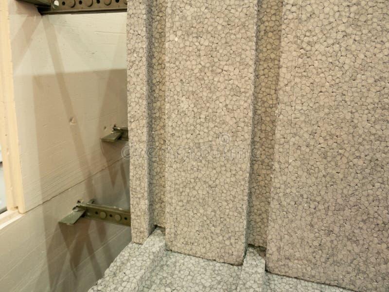 Przy budowy ramą - styrofoam bloki dla domowego budynku specjalni izolacyjni materiały dla lepszy kosztu energii i izolacji obrazy royalty free
