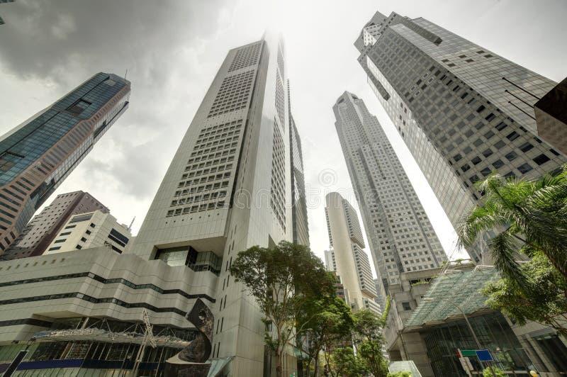 Przy dniem Singapur pejzaż miejski obraz royalty free