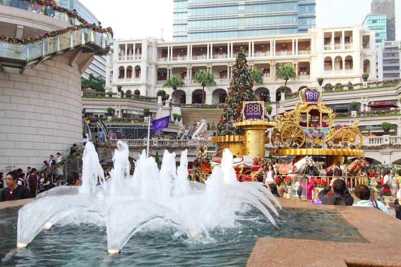 Przy Dziedzictwem tłumu gromadzenie się 1881 Hong Kong zdjęcia stock