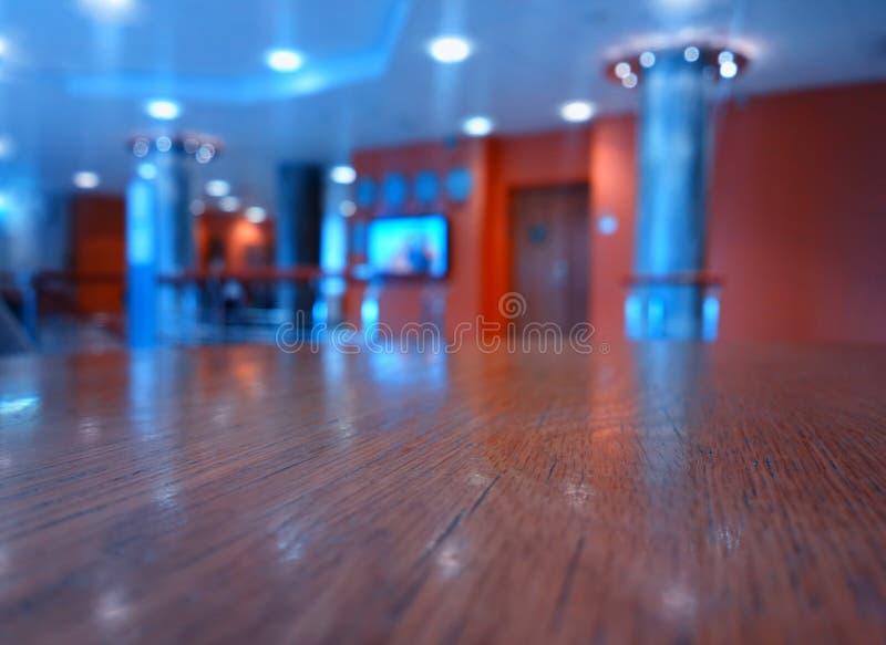 Przy hotelu lobby bokeh tła hd zdjęcie stock