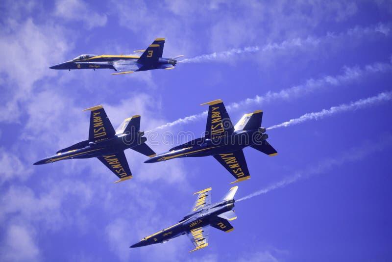 Przy Kaneohe błękitny Aniołowie Airshow fotografia royalty free